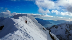 Pizzo Cavregasco Parete Ovest in Val Bodengo: uscita diretta in vetta