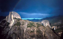 Half Dome after a storm