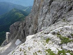 """Sulla """"Via della rampa"""", parete Est Croda Granda (Pale di San Martino, Dolomiti)"""