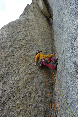 Olivier Favresse in action on the Shepton Spire