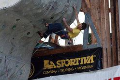 Patrik Daberto, secondo a Campitello di Fassa nel Campionato italiano di arrampicata sportiva 2010 delle Guide Alpine
