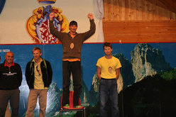 Il podio del Campionato italiano di arrampicata sportiva 2010 delle Guide Alpine