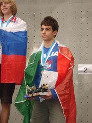 Alerssandro Santoni bronzo speed a Edimburgo