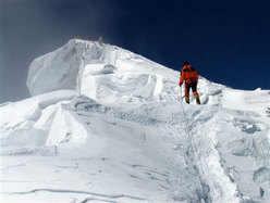 Nives Meroi and the summit of Everest