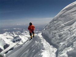 Nives Meroi: getting close to the summit of Everest