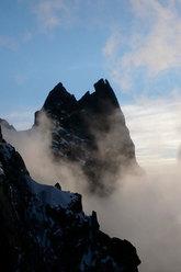Sulla cresta delle Aiguilles de Chamonix, poco prima del bivacco...