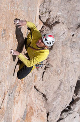 Rolando Larcher in action on AlexAnna 8a+ max / 7a+ obl.
