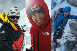 Hansjörg Auer, David Lama and Jess Roskelley