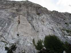 The north Face of Pizzo Campana. Hystrix takes a line up the right.