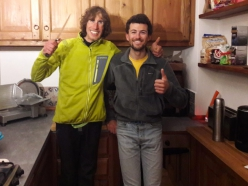 Tomas Franchini and Pietro Picco before their expedition to Lamo She in China