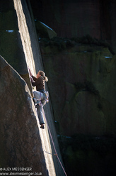 Rock climbing at Millstone, England