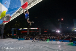 Kai Horada, second at Wujiang, Bouldering World Cup 2019