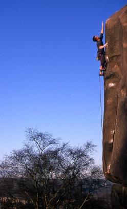 3163698a2f6 Charlie Woodburn's gritstone masterpiece Harder, Faster at Black Rocks