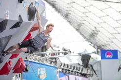 Jakob Schubert wins the Munich stage of the Bouldering World Cup 2019