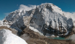 The huge North Face of Chamlang (7321m) in Nepal
