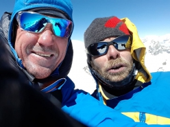 Marek Holeček and Zdeněk Hák during their 8-day alpine style ascent of the Chamlang (7321m) in Nepal