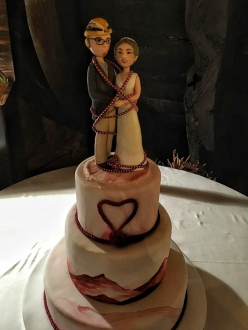 The wedding cake of Neus Colom and Iker Pou