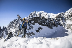 Denis Trento training at altitude in the Mont Blanc massif