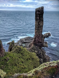 The Old Man of Hoy, Orkney Islands, Scotland. First ascended in 1966 by Chris Bonington, Tom Patey and Rusty Baillie, the 137m high red sandstone tower is one of the tallest stacks in Britain and over time it has come come to symbolise British rock climbing.