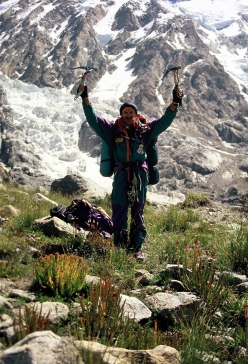 Krzysztof Wielicki after his solo ascent of Nanga Parbat in 1996