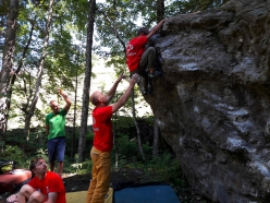 During the first Gerolasass climbing meeting in Val Gerola (Alta Valtellina, Italy)