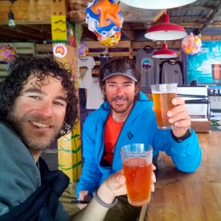 Marc Toralles and Bru Busom after having climbed the Slovak Direct up the South Face of Denali in Alaska