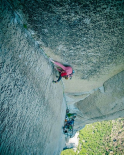 Barbara Zangerl repeating the Pre-Muir Wall up El Capitan in Yosemite, together with Jacopo Larcher
