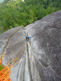 Climbing at Squamish: Cecilia Marchi on the route Skywalker