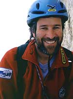 Christoph Hainz. Born in 1962, started climbing in 1982, Mountain Guide since 1992, he is also Mountain Guides Instructor. He currently lives at Riscone (BZ), South Tyrol, with his wife Claudia and children Ionas and Katarina.