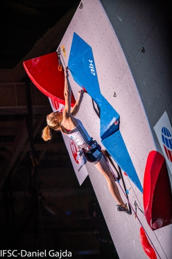 Janja  Garnbret , Lead World Championship 2019 at Hachioji in Japan