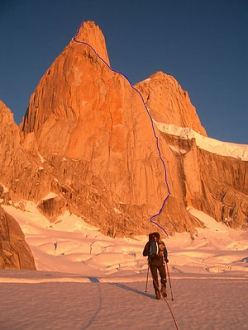 Slovenian pataGOnia 2005 expedition: The Italian route on the SE face of Ag. Poincenot (3002m).