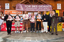The Tor des Geants 2010 podium