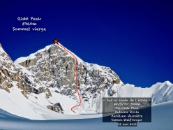 Risht Peak at the head of the Risht Glacier in the Yarkhun valley, Pakistan, first climbed by French alpinists Pierrick Fine, Antoine Rolle, Aurélien Vaissière and Symon Welfringer on 22 May 2019