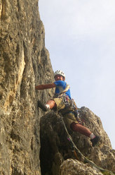 Gregor Demetz sul 4° tiro di Via Giulia - Torre Orientale Meisules dala Biesces