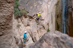 Making the first ascent of Wasserläufer close to Terlano, South Tyrol, Italy (Florian Riegler, Martin Riegler, Daniel Ladurner 2019