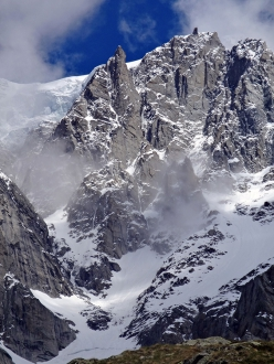 The south Face of Grandes Jorasses, Mont Blanc massif