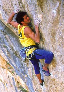 Pietro Dal Prà climbing Hotel Supramonte in Sardinia