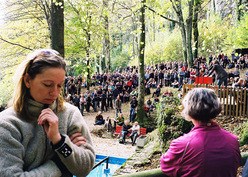 The farewell ceremony in the Frankenjura.