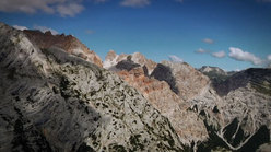 Flying above the Cortina Dolomites