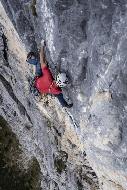 Cima Nord dei Ferùch, Monti del Sole, Bellunese Dolomites: first repeat and first free ascent by Mirco Grasso and Santi Padros