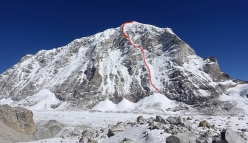 The West Face of Tengi Ragi Tau in Nepal, first climbed alpine style by Alan Rousseau and Tino Villanueva