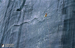 Ben Heason, Slipstream (E6 6a) Rainbow Slab, Llanberis, Wales, UK