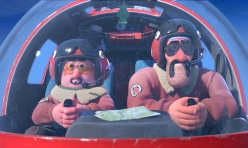 The mountain rescuers Parmesan and Salami in the award-winning film Hors Piste