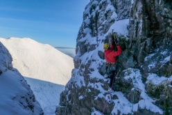 Winter climbing in Scotland: Greg Boswell and Guy Robertson making the first ascent of Local Hero at An Teallach.