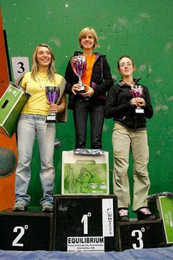Podio femminile: Alexandra Ladurner (1°), Elena CHiappa (2°), Giada Zampa (3à)