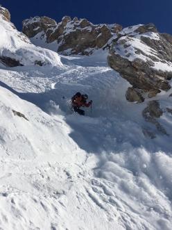 The ski descent of Canale del Boomerang, Monte Fibion, Brenta Dolomites (Martin Giovanazzi, Vincenzo Mascaro 05/12/2019)