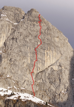 The line of Déjà in Rätikon, put up by Michi Wyser and Andres Lietha in 1992 and freed in 2019 by Fabian Buhl