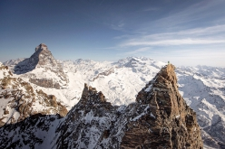 Matterhorn Grandes Murailles: from 20 - 23 January 2020 Italian mountain guides François Cazzanelli and Francesco Ratti completed the first winter enchainment of the Furggen chain, Matterhorn, Grandes Murailles chain and Petites Murailles chain after 4 days and 40 hours of climbing