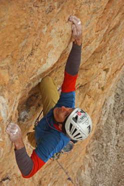 Rolando Larcher on the seventh pitch of Red, Moon and Star