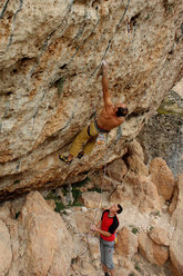 Rolando Larcher climbing in Kazikli Valley